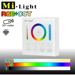 Mi•Light RGB+CCT vægpanel til batteri 2,4GHz - 1 Zone