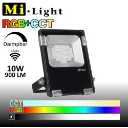 Mi•Light 10W LED Projektør RGB+CCT 900Lm 2700k-6500k