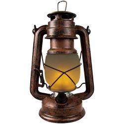 Rustik flagermuslampe med realistisk flamme effekt - Dæmpbar