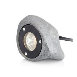 GARDEN 24 Stone LED Spot 3W i 3000K 180Lm IP44 - Grå