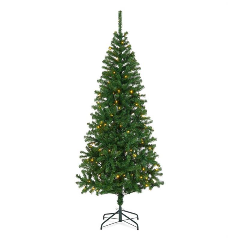 Kunstig Juletræ 210cm Med 170 LED Lys - Udendørs