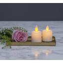 M-Twinkle LED LED Candle 6cm Med Timer i Hvid - 2-pack