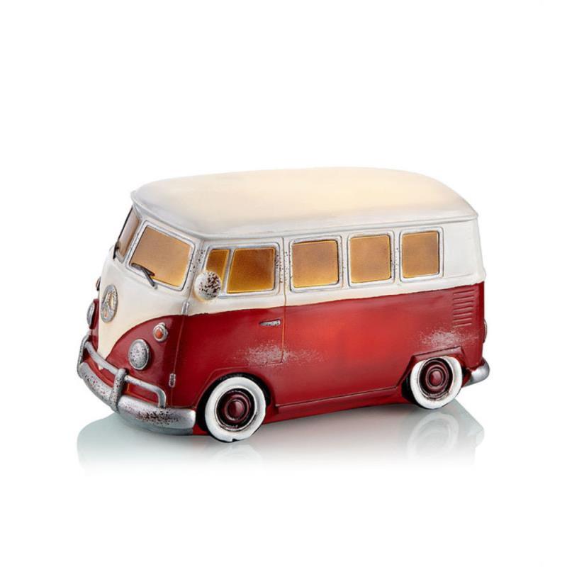 NOSTALGI VW Bus Med LED Lys i Rød - Markslöjd
