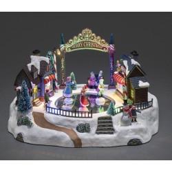 Dekorativ Dansende Julemotiv Med LED Lys - Konstsmide