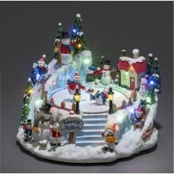 Dekorativ Frosty Snemands By Med LED Lys - Konstsmide