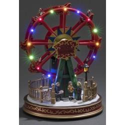 Dekorativ Pariserhjul Julemotiv Med LED Lys - Konstsmide