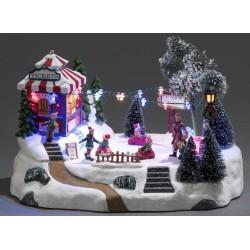 Dekorativ Jule Forlystelsespark Med LED Lys - Konstsmide
