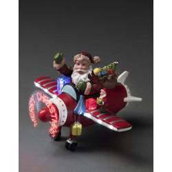 Dekorativ Julemands Flyver Med LED Lys - Konstsmide