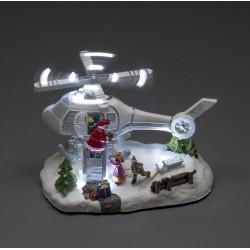 Dekorativ Jule Helikopter Med LED Lys - Konstsmide