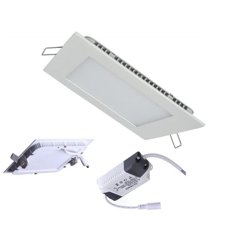 HiluX P22 LED Panel 15W 3000K 1350Lm Ra93 Dim - Firkantet