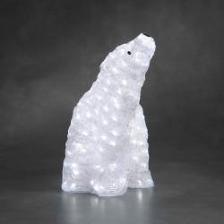 Siddende Isbjørn Med 200 LED Lys IP44 - Konstsmide