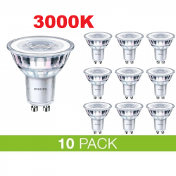 PHILIPS GU10 LED 5W 3000K 365Lm Dim - 10-PACK