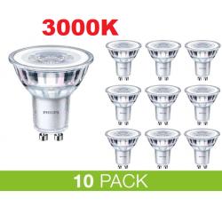 PHILIPS GU10 LED 5W 3000K 365Lm Dim - 10-PACK