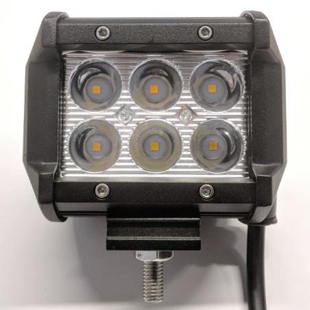 LED Projektør til bil, båd, traktor, osv. 12V-30V, IP67, 18W, 2400LM, 6000K