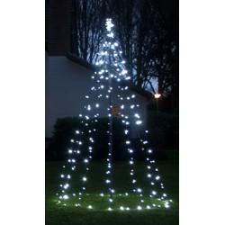 Juletræ 200cm Med Ice White LED Lys i static/flash IP44