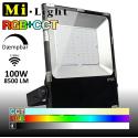 Mi•Light 100W LED Projektør RGB+CCT 8500Lm 2700k-6500k