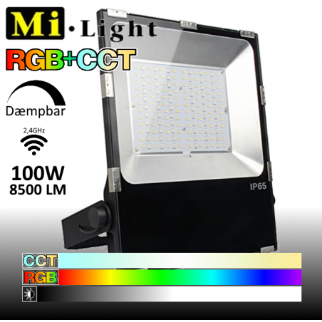 Mi•Light 100W LED Projektør RGB+CCT 8500Lm 2700k-6500k