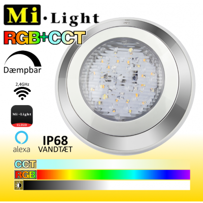 Mi•Light Undervands Spot RGB+CCT IP68 24V 12W 1000Lm