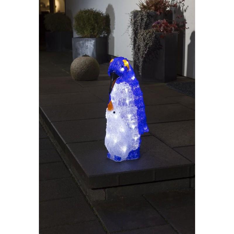 Pingvin Mor Med Barn - 40 LED Lys IP44 - Konstsmide