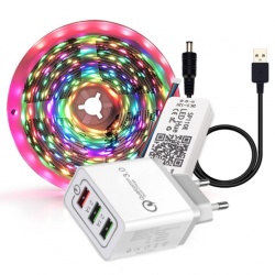 RGB USB Pixel LED Bånd 5V Bluetooth - 2 meter inkl. USB adapter