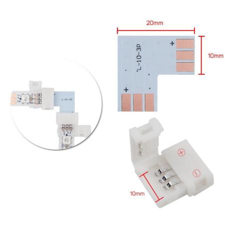 SmartClip Hjørnestykke til CCT og Digital Pixel LED bånd