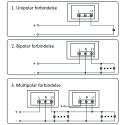 indbygnings PIR sensor til DC 12V LED 0-200W