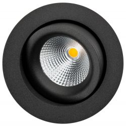 SG Gyro Isosafe LED Downlight 6W 2700K 550Lm Ra95 i Sort