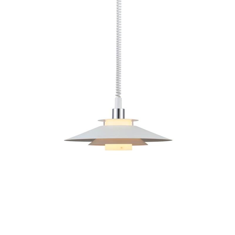 Rivoli Pendel Ø40 E27 M/Hejs Hvid/Krom - Halo Design