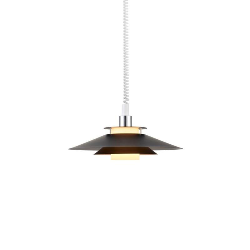 Rivoli Pendel Ø40 E27 M/Hejs Sort/Krom - Halo Design