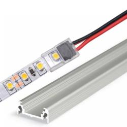StripClip™ SLIM Single Color IP20 10mm - Bånd-til-Ledning - Til Alu Profiler