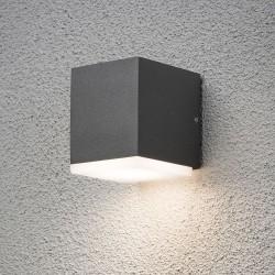 Monza LED Væglampe udendørs 3000K IP54 i Antracitgrå