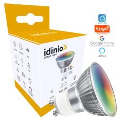 Idinio RGBWW WiFi GU10 LED spot pære 2700K 230V 5W 360Lm