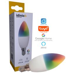 Idinio RGBWW WiFi E14 LED pære 2700K 230V 5W 470Lm
