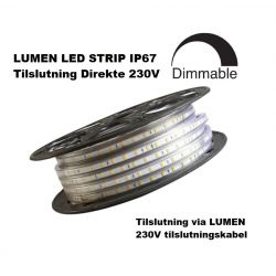 LUMEN LED Strip 230V i 3000K, 800Lm/m, IP67