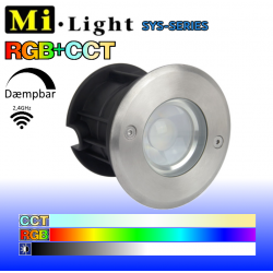 Mi•Light SYS nedgravningsspot 24V IP68 350LM RGB+CCT