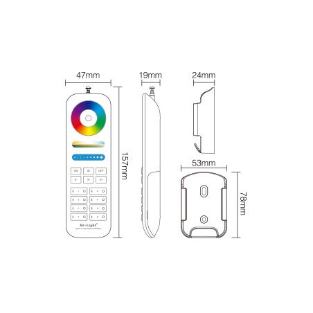 MiBoxer RF 8-Zoners fjernbetjening