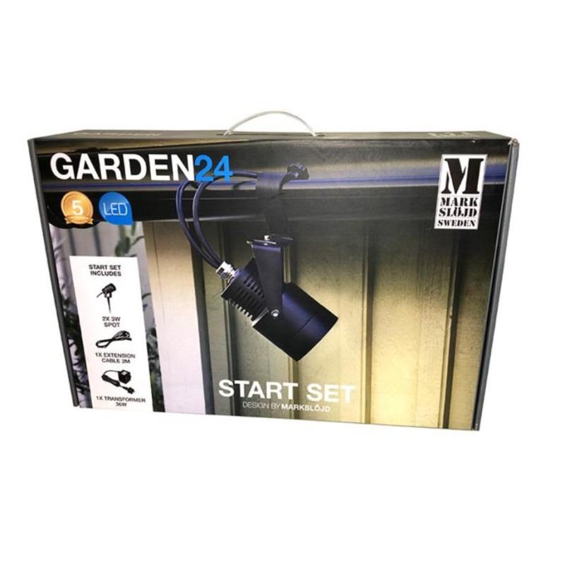GARDEN 24 Start Sæt - 2 x 3W LED Spot inkl. Transformer