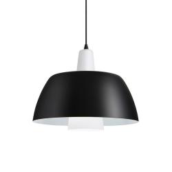 SOLO Pendel Lampe E27 i Sort/Hvid - Markslöjd