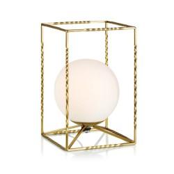 EVE Bordlampe LED i Guld Med Opal Glas - Markslöjd
