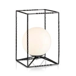 EVE Bordlampe LED i Sort Med Opal Glas - Markslöjd