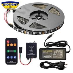 Musikstyret PIXEL RGB LED Bånd sæt 5 meter IP65 230V