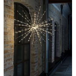 LED Lyskugle Med Twinkle Effekt Ø84cm IP44 i Sølv - Konstsmide