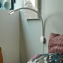 Fleksibel LED Væglampe med 2 x USB - Hvid