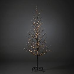 Juletræ 150cm Med 240 LED og Twinkle Effekt IP44 i Sort