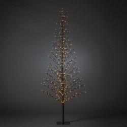 Juletræ 210cm Med 504 LED og Twinkle Effekt IP44 i Sort