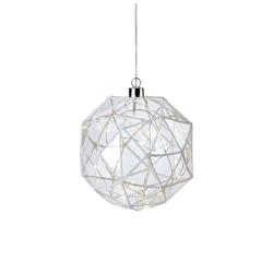ASPLIDEN Pendel Glaskugle 15 cm Med 20 LED - Klar